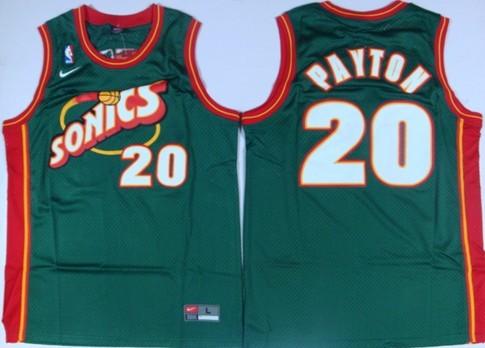 386664ae3a7c ... NBA Basketball Jersey Seattle Supersonics 20 Gary Payton 1995-96 Green  Swingman Jersey ...