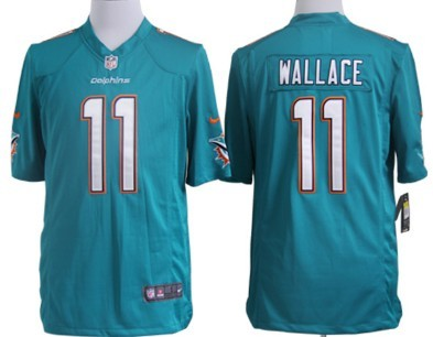 nike miami dolphins 11 mike wallace 2013 green game jersey