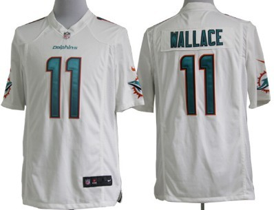 nike miami dolphins 11 mike wallace 2013 white game jersey