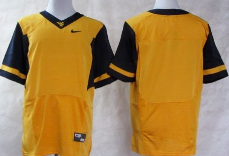 West Virginia Mountaineers Blank 2013 Yellow Elite Jersey