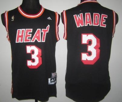 3494e8fe993 ... Youth NBA Jersey Miami Heat 3 Dwyane Wade ABA Hardwood Classics Swingman  Black Jersey .