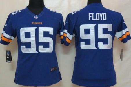 2da3f804f ... Nike Minnesota Vikings 95 Sharrif Floyd 2013 Purple Limited Womens  Jersey ...