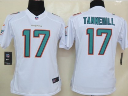 nike miami dolphins 17 ryan tannehill 2013 white limited womens jersey