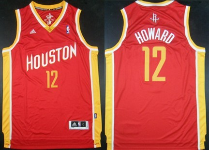 Houston Rockets  12 Dwight Howard Revolution 30 Swingman Red With Gold  Jersey 5dcf884e6
