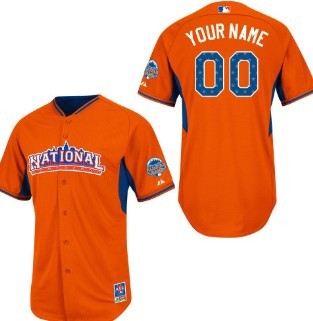 Men's National League Customized 2013 All-Star Orange Jersey