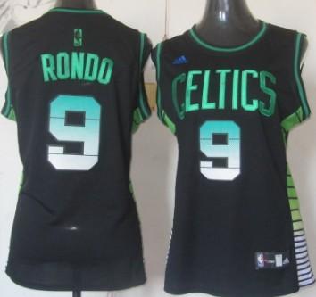 03560b87c nba jerseys boston celtics 9 rajon rondo black green name jerseys ...