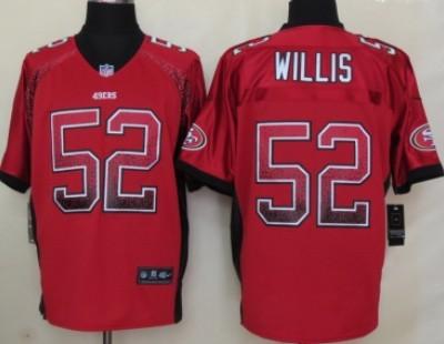39cea178889 Nike San Francisco 49ers  52 Patrick Willis Drift Fashion Red Elite Jersey