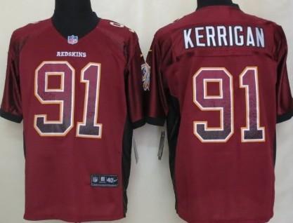 Nike Washington Redskins #91 Ryan Kerrigan Drift Fashion Red Elite Jersey