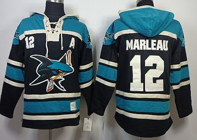 Old Time Hockey San Jose Sharks  19 Joe Thornton Green Hoodie on ... 3e6bd0205