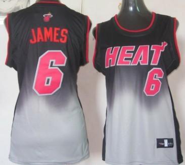 c532552f9 Miami Heat  6 LeBron James Black Rhythm Fashion Womens Jersey on ...