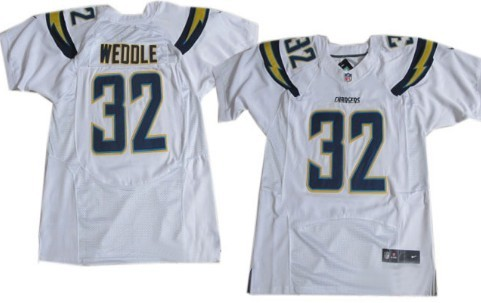 nike san diego chargers 32 eric weddle 2013 white elite jersey