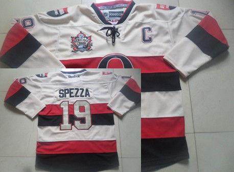detailed pictures c0cd3 7cb6f Ottawa Senators #25 Chris Neil 2014 Heritage Classic Cream ...