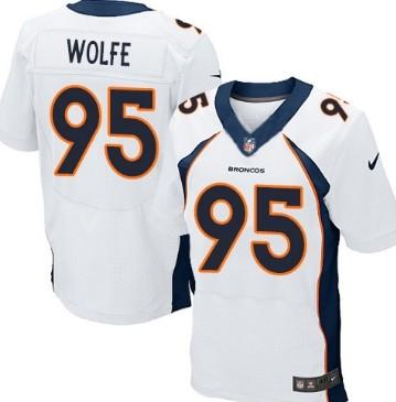 nike denver broncos 95 derek wolfe 2013 white elite jersey