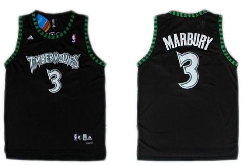 cf11de301 Minnesota Timberwolves 3 Stephon Marbury Black Swingman Jersey ...