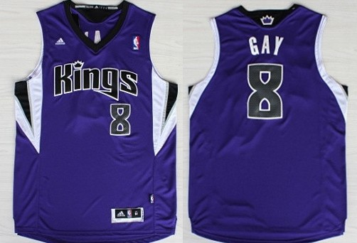 66c1838bd583 ... Sacramento Kings 8 Rudy Gay Revolution 30 Swingman Purple Jersey Rudy  Gay Sacramento Kings Authentic Home NBA Adidas ...
