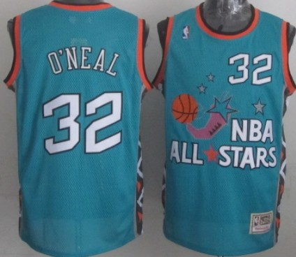 NBA 1996 All-Star #32 Shaquille O'neal Green Swingman Throwback Jersey