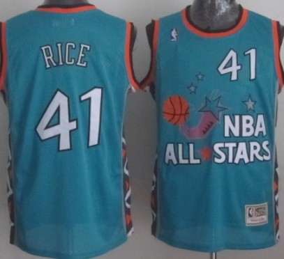 NBA 1996 All-Star #41 Glenn Rice Green Swingman Throwback Jersey