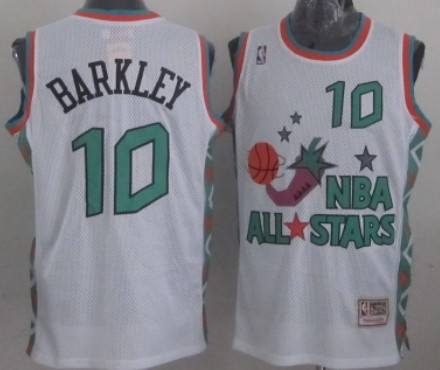 NBA 1996 All-Star #10 Charles Barkley White Swingman Throwback Jersey
