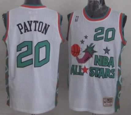 NBA 1996 All-Star #20 Gary Payton White Swingman Throwback Jersey