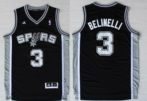 83de3639e53c sale 2014 christmas day black jersey san antonio spurs 3 marco belinelli  revolution 30 swingman black
