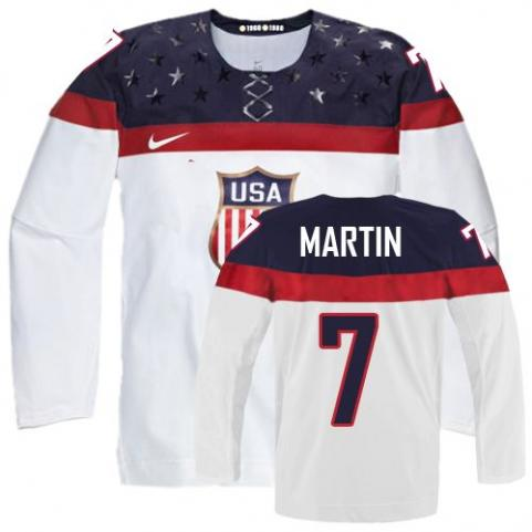 2014 Olympics USA #7 Paul Martin White Jersey