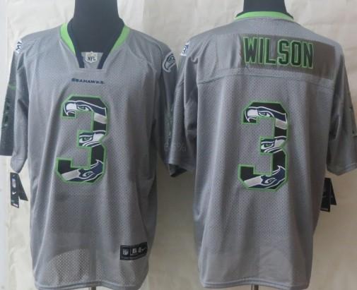 nike seattle seahawks 3 russell wilson lights out gray ornamented elite jersey 53 nike elite malcolm
