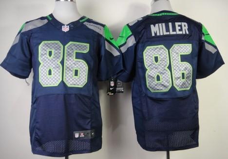 845bccd0d ... Nike Seattle Seahawks 86 Zach Miller Navy Blue Elite Jersey Football  jerseys ...