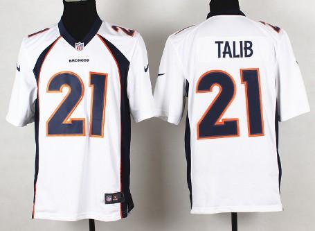 womens jersey nike denver broncos 21 aqib talib 2013 white game jersey
