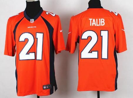 nike denver broncos 21 aqib talib 2013 orange game jersey