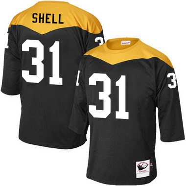 ID103383 Men\'s Pittsburgh Steelers #31 Donnie Shell Black Retired Player 1967 Home Throwback NFL Jersey