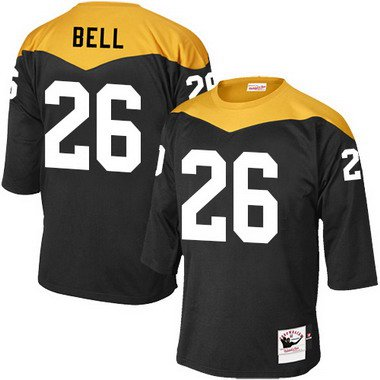 4aeb41aa297 Men s Pittsburgh Steelers  26 LeVeon Bell Black 1967 Home Throwback NFL  Jersey
