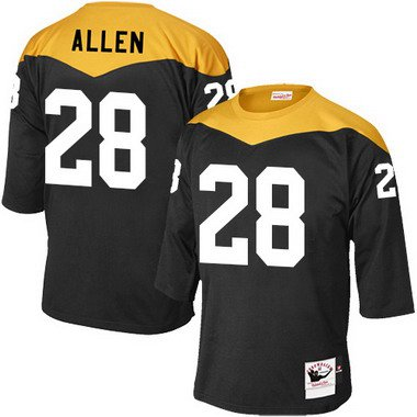 0ff0284bc Men's Pittsburgh Steelers #28 Cortez Allen Black 1967 Home Throwback NFL  Jersey