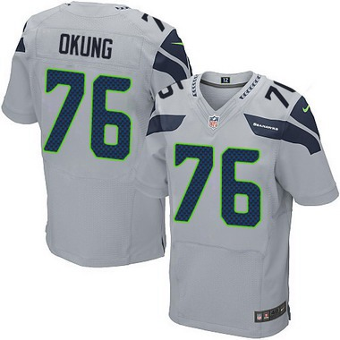 Cheap NFL Jerseys Sale - Men's Seattle Seahawks #95 Demarcus Dobbs Gray Alternate NFL Nike ...