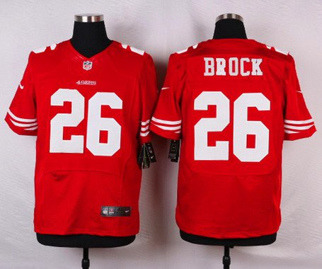 ID103324 Men\'s San Francisco 49ers #26 Tramaine Brock Scarlet Red Team Color NFL Nike Elite Jersey