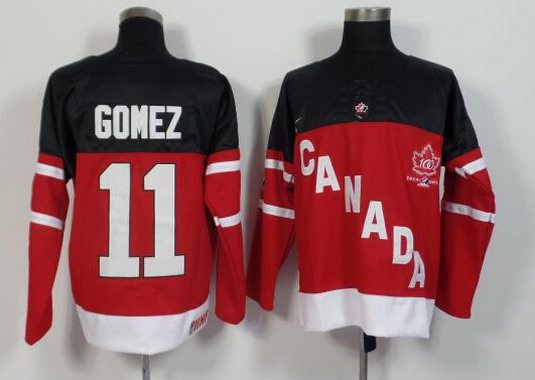 2014-15 Men's Team Canada #11 Scott Gomez Retired Player Red 100TH Anniversary Jersey