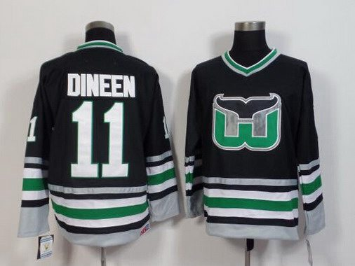 Men's Hartford Whalers #11 Kevin Dineen 1995-96 Black CCM Vintage Throwback Jersey