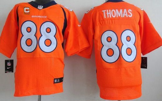 Men's Denver Broncos #88 Demaryius Thomas Orange Team Color C ...