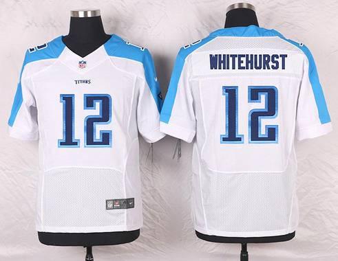 ID103183 Men\'s Tennessee Titans #12 Charlie Whitehurst White Road NFL Nike Elite Jersey