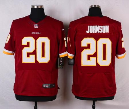 Men s Washington Redskins  20 Jeron Johnson Burgundy Red Team Color NFL Nike  Elite Jersey 60f981984