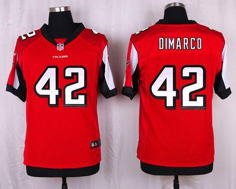 ID103134 Men\'s Atlanta Falcons #42 Patrick DiMarco Red Team Color NFL Nike Elite Jersey