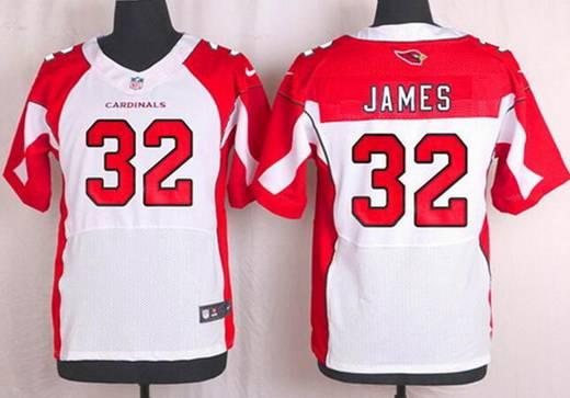 NFL Jerseys Nike - Men's Arizona Cardinals #32 Edgerrin James White Retired Player ...
