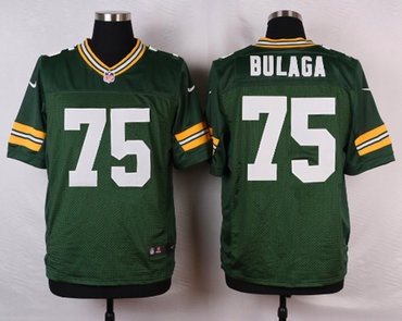 ID103064 Men\'s Green Bay Packers #75 Bryan Bulaga Green Team Color NFL Nike Elite Jersey