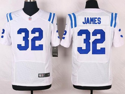 Men's Indianapolis Colts #32 Edgerrin James White Retired Player ...