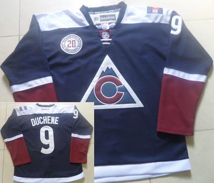 Men's Colorado Avalanche #9 Matt Duchene Reebok Navy Blue 20th Alternate Premier Jersey