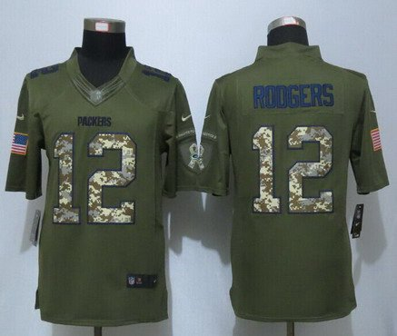 ... Anthracite Salute to Service Mens Green Bay Packers 12 Aaron Rodgers  Green Salute To Service 2015 NFL Nike Limited ... 2ea33aa05