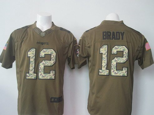 timeless design b815a add9e mens new england patriots 12 tom brady nike green salute to ...