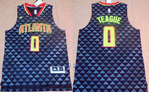... Mens Atlanta Hawks 0 Jeff Teague Revolution 30 Swingman 2015-16 New  Black Jersey ... d87724fe8