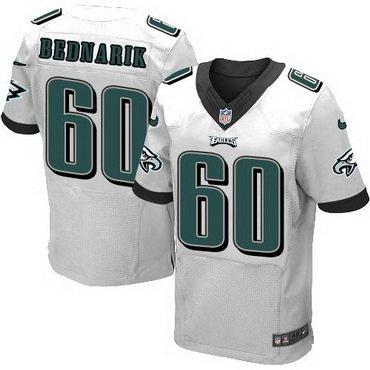 ... Mens Philadelphia Eagles 60 Chuck Bednarik White Retired Player NFL Nike  Elite Jersey ... 303e29e16