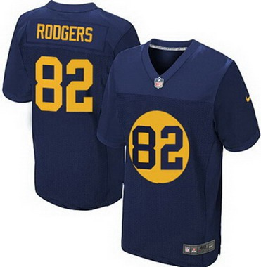 ID103601 Men\'s Green Bay Packers #82 Richard Rodgers Navy Blue Alternate NFL Nike Elite Jersey