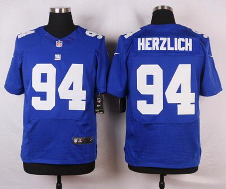 ID103567 Men\'s New York Giants #94 Mark Herzlich Royal Blue Team Color NFL Nike Elite Jersey